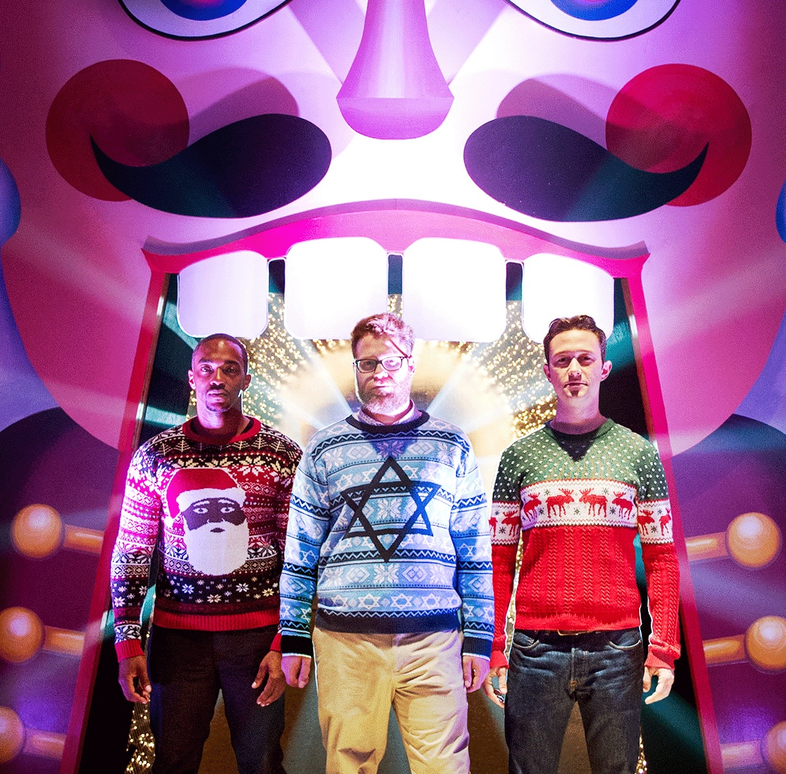 Seth Rogan Christmas.Deck The Halls Our Christmas Jumpers Spotted In New Seth