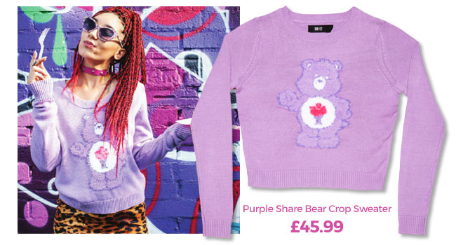 Share Bear Crop Sweater